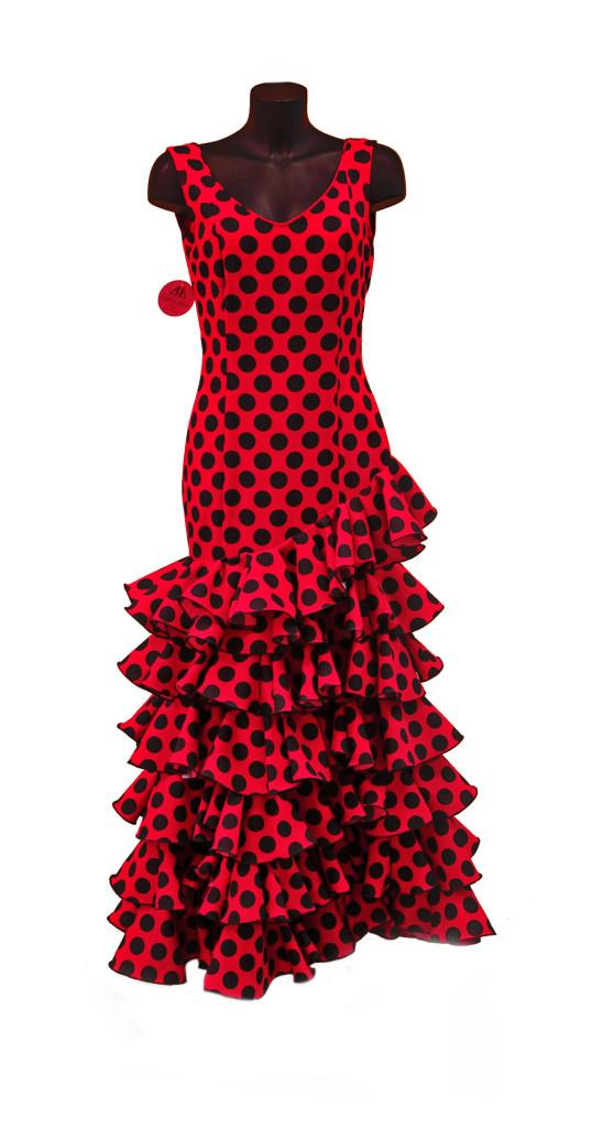 295_flamenco-danskleed-rood-zwarte-bollen